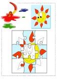 Coloration de Sun Image libre de droits