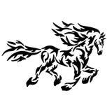 Coloration ou tatouage noire de cheval Photos stock