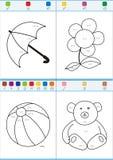 Coloration par des nombres. Ensemble 5 Photographie stock libre de droits