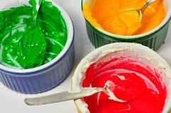 Colorations de nourriture images stock