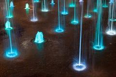 Colorato fontana blu e viola Fotografia Stock Libera da Diritti
