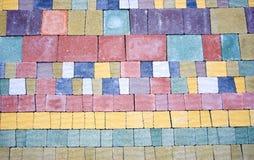 Colorato pavimentare primo piano fotografia stock libera da diritti