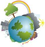 Colorato poca terra del pianeta Immagini Stock Libere da Diritti