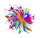 Colorato spruzza Fotografie Stock