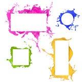 Colorato spruzza le strutture Fotografia Stock Libera da Diritti