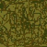 Colorazione protettiva di verde di marrone del cammuffamento del modello senza cuciture royalty illustrazione gratis