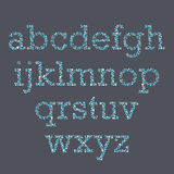 Colorblind Font. A font set that replicates colorblind exams Stock Photography