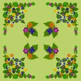 ColorBlossomsNapkin1Green Stock Fotografie