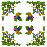 ColorBlossomsNapkin1White Stock Fotografie
