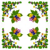 ColorBlossomsNapkin2White Stock Afbeeldingen
