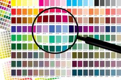 ColorChart Zoom Royalty Free Stock Photography