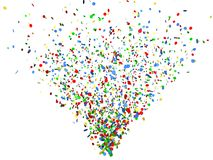 Colorconfetti background Royalty Free Stock Photography