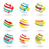 Colordul arrow icons Royalty Free Stock Photo