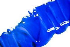 Colore acrilico blu, fondo Fotografia Stock Libera da Diritti