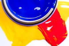 Colore acrilico, fondo Immagini Stock Libere da Diritti