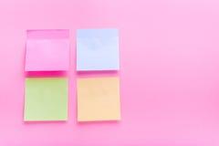 Colore adesivo della posta della nota fotografia stock