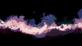 Colore astratto commovente turbolento di Digital che dipinge nuova arte unica di qualità del ciclo del fondo senza cuciture di an stock footage