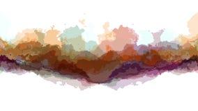 Colore astratto commovente turbolento di Digital che dipinge nuova arte unica di qualità del ciclo del fondo senza cuciture di an video d archivio