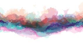 Colore astratto commovente turbolento di Digital che dipinge nuova arte unica di qualità del ciclo del fondo senza cuciture di an archivi video