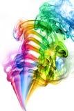 Colore astratto del fumo su fondo bianco Fotografia Stock