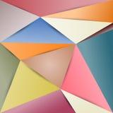 Colore astratto di carta del fondo del poligono Fotografia Stock Libera da Diritti