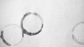 Colore in bianco e nero della macchia della tazza di caffè Fotografia Stock Libera da Diritti
