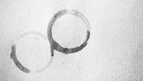 Colore in bianco e nero della macchia della tazza di caffè Fotografie Stock Libere da Diritti