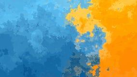 Colore blu ed arancio del fondo del video senza cuciture macchiato animato astratto del ciclo - effetto dell'acquerello - stock footage