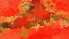 Colore cachi arancio rosso caldo macchiato animato astratto del ciclo senza cuciture del fondo video archivi video