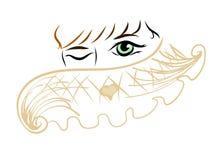 Colore caldo minimo della donna dell'estratto della sciarpa royalty illustrazione gratis