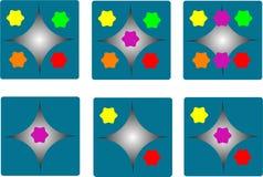 Colore completo dei dadi fotografie stock libere da diritti