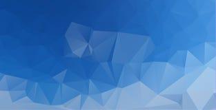 colore consistente del blu dei triangoli del fondo astratto poligonale illustrazione di stock