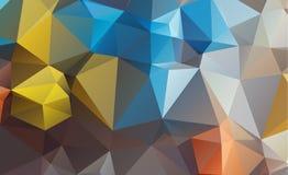 Colore consistente del blu dei triangoli del fondo dell'estratto di Olygonal royalty illustrazione gratis