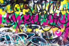 Colore creativo astratto del fondo dei graffiti Fotografia Stock