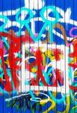 Colore creativo astratto del fondo dei graffiti Fotografia Stock Libera da Diritti