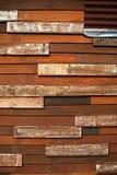 Colore d'annata della parete di legno fotografie stock libere da diritti