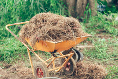 Colore d'annata ricoperto di paglia agricoltore rurale della campagna dell'Asia Fotografie Stock Libere da Diritti