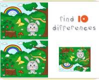 Colore dal gioco educativo di numero per i bambini Radura della foresta con una h Fotografia Stock Libera da Diritti