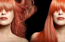 Colore dei capelli e ritratto di bellezza di una giovane donna Fotografia Stock Libera da Diritti
