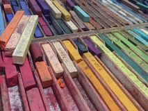 Colore dei pastelli fotografie stock
