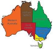 Colore dei territori dell'Australia Fotografia Stock