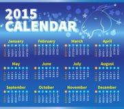 Colore del blu del calendario 2015 Immagine Stock