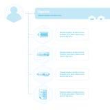 Colore del blu di progettazione del modello di Infographic di cronologia Immagine Stock