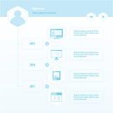 Colore del bule di progettazione di Infographic di cronologia Immagini Stock Libere da Diritti