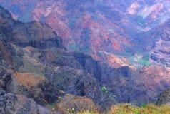 Colore del canyon di Waimea Immagine Stock