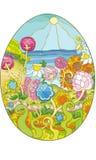 Colore del mare dell'uovo 2 Fotografie Stock Libere da Diritti