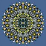 Colore del modello della mandala royalty illustrazione gratis