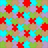 Colore del modello di puzzle Immagini Stock Libere da Diritti