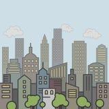 Colore del paesaggio della città Immagini Stock