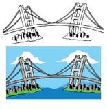Colore del ponte e bianco nero Fotografia Stock Libera da Diritti